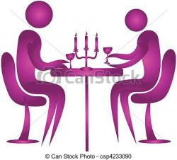Date clipart candlelight dinner