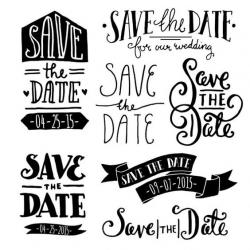 Date clipart save the date