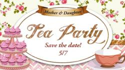 Tea Party clipart mother daughter tea