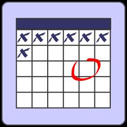 Date clipart weekly calendar