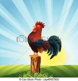 Dawn clipart rooster
