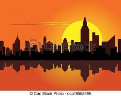 Dawn clipart scenery