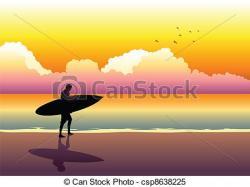 Dawn clipart sunrise beach