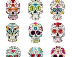 Ssckull clipart day the dead skull