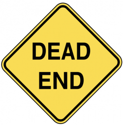 End clipart dead end