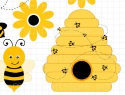 Bee Hive clipart baby bumblebee