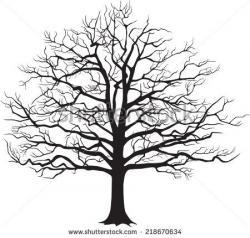 Drawn dead tree magical tree