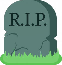 Drawn tombstone transparent