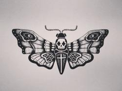 Deaths Head Moth clipart rat head