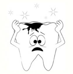 Decay clipart healthy tooth