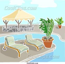 Chair clipart swimming pool