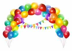 Rainbow clipart balloon arch