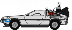 Delorean clipart