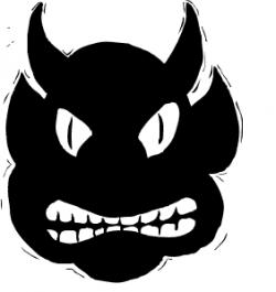 Fangs clipart demon horns