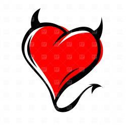 Devil clipart heart