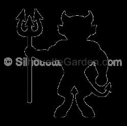 Devil clipart silhouette