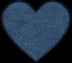 Denim clipart heart