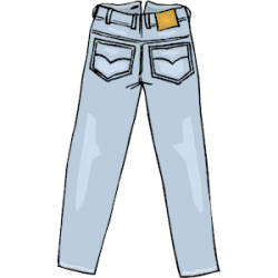 Denim clipart long pants
