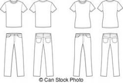Denim clipart t shirt jeans