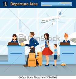 Airport clipart ticket counter