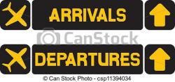 Departure clipart airport