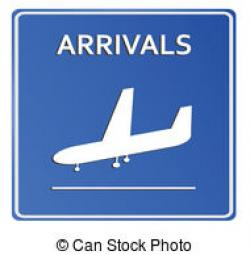 Airport clipart arrival