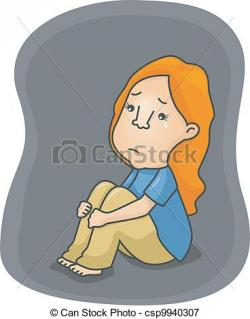 Comfort clipart female depression