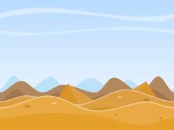 Sahara clipart desert scene