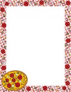 Pizza clipart boarder