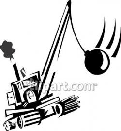 Crane clipart wrecking ball