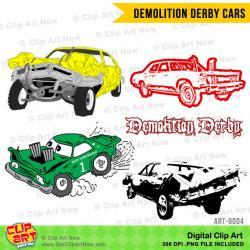 Car clipart demo derby