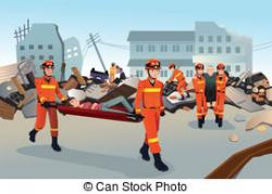 Firefighter clipart rescue team