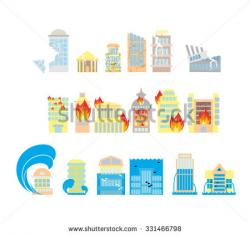 Quaka clipart destroyed city