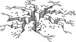 Earthquake clipart black and white