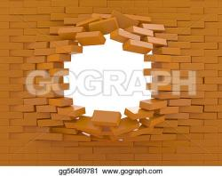 Destruction clipart wall