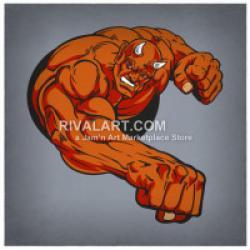 Devil clipart muscular