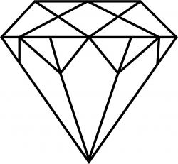 Sketch clipart diamond outline
