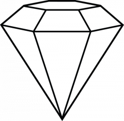 Crystals clipart diamond outline