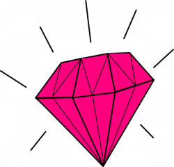 Gems clipart pink diamond