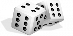 Game clipart rolling dice