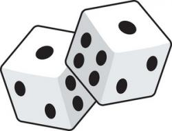 Pair clipart one dice