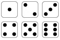 Squares clipart dice