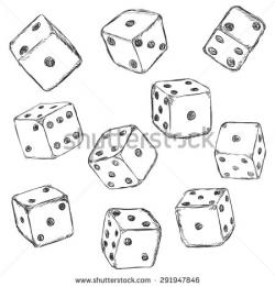 Dice clipart sketch
