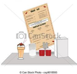 Diner clipart bar counter