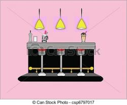 Diner clipart counter