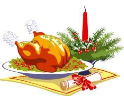Feast clipart christmas dinner