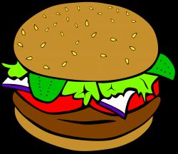 Burger clipart diner food