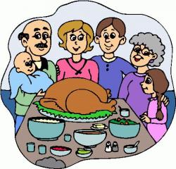 Feast clipart funny family