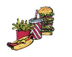 Burger clipart fried food