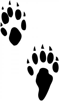 Footprint clipart squirrel